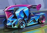 大人のための123N1000ピースパズルカースポーツカーコンセプトカーレース木製パズルレジャーおもちゃ教育知的減圧ゲーム家の装飾アートギフト