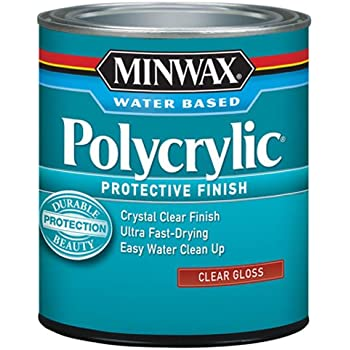 Minwax 65555444 Polycrylic Protective Finish Water Based, quart, Gloss