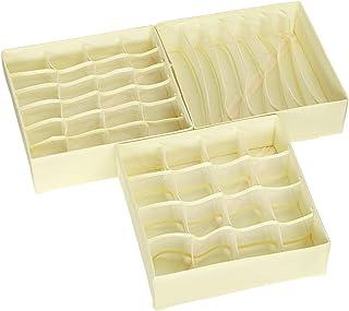 Wishstar Box Rangement sous Vetement, 4 Pièces de Boite de Rangement Pliable Tiroir, Boîte à Tiroirs pour Soutiens-Gorge/C...