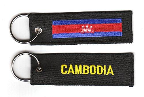 Schlüsselanhänger Kambodscha Fahne Flagge NEU