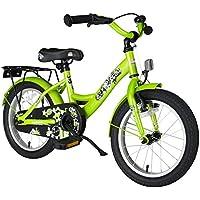 bike*star 40.6cm (16 pulgada) Bicicleta para niños - Clásico - Verde