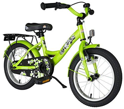 BIKESTAR Kinderfahrrad für Mädchen und Jungen ab 4-5 Jahre | 16 Zoll Kinderrad Classic | Fahrrad für Kinder Grün | Risikofrei Testen