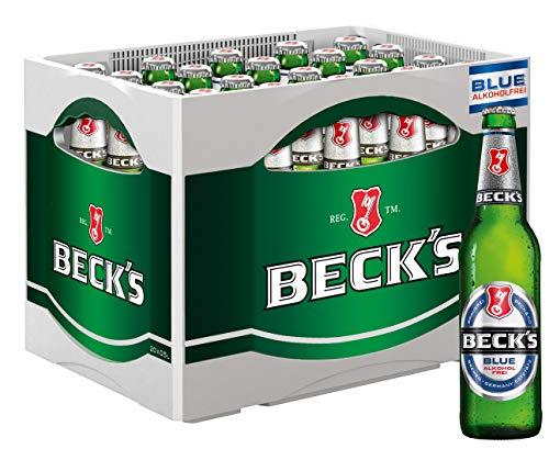 BECK'S Blue Pils Alkoholfrei Flaschenbier, MEHRWEG (20 x 0.5 l) im Kasten, Alkoholfreies Pils Bier