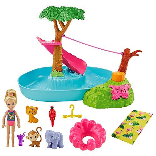 Barbie- DHA SP - Chelsea Jungle River Playset (Mattel GTM85)