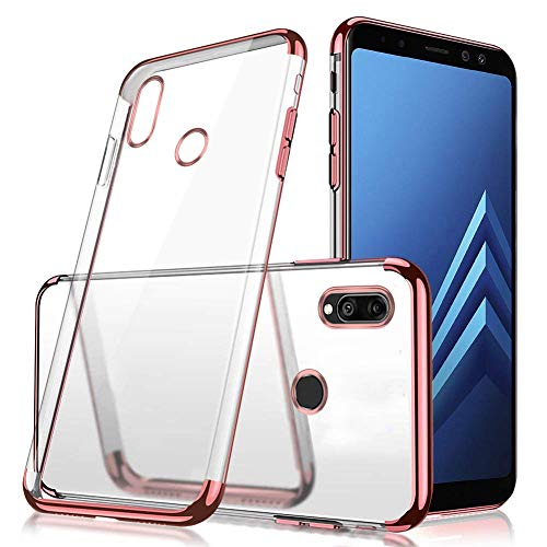 MoreChioce kompatibel mit Huawei Y9 Prime 2019 Hülle,Huawei P Smart Z Chrom Hülle,3 in 1 Glitzer Paillette Strass Transparent Silikon Handyhülle Kristall Flexible Gel Rose Gold Stoßfest Bumper