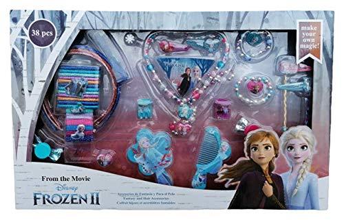Accesorios para el pelo Frozen II Elsa Anna Olaf Disney 38 piezas Caja regalo – WD20548