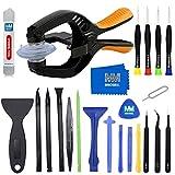 MMOBIEL Kit d'outils professionnels 24 en 1 pour ouverture de Smartphones/Tablettes avec pincettes...