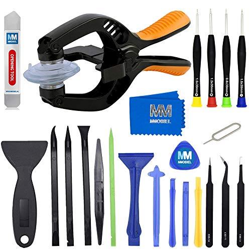 attrezzi smartphone MMOBIEL Kit 24 in 1 professionale pinzette e cacciaviti di riparazione ventosa per tablet e smartphone compatibili
