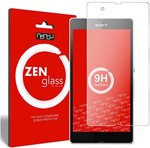 ZenGlass Flexible Glas-Folie kompatibel mit Sony Xperia Z Panzerfolie I Bildschirm-Schutzfolie 9H