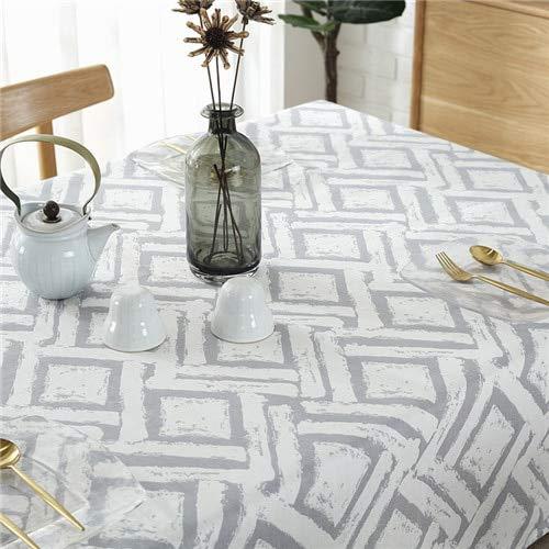 XXDD Mantel de Tela a Cuadros Simple Restaurante Rectangular Mantel Moderno Impermeable Lavable Mantel A5 150x210cm