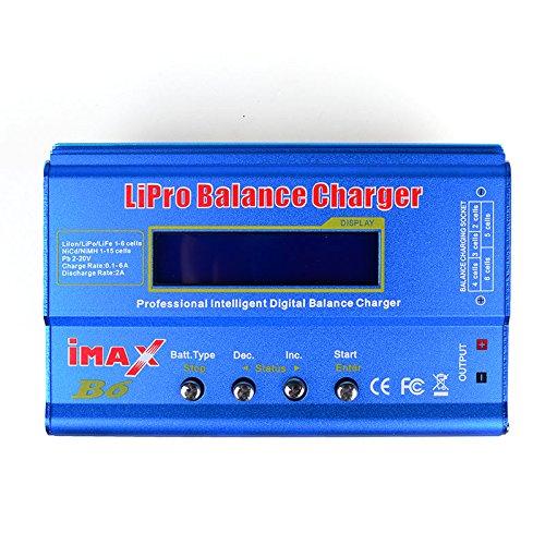 DLFPV® iMAX B6 Intelligent Multifunction Balance Charger Microprocessor Controlled in Delta-peak Sensitivity