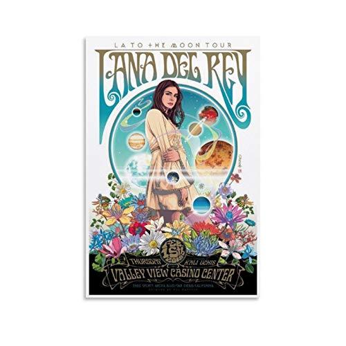 """XYDD - Poster da parete """"Lana Del Rey"""" Art La to The Moon Tour"""", in stile vintage, per soggiorno, camera da letto, 30 x 45 cm"""