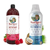 Liquid Multivitamins & Minerals Bundle by MaryRuth's | Morning Liquid Vitamins (Raspberry)...