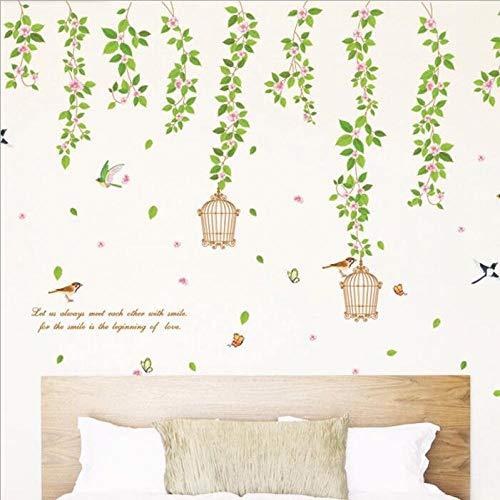 Vinyl Baum Vogelkäfig Blume Wandaufkleber Home Aufkleber PVC Wandaufkleber Kunst Wandbild AY9084 |Blumenwandaufkleber |Home Aufkleber |Wandaufkleber60X90cm