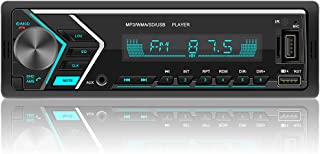 $27 » Single Din Car Stereo with Dual Bluetooth, FM Radio Car Audio Receiver Dual USB Port, SD, AUX-in, Built-in Microphone, Han...