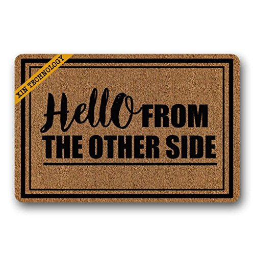 Artsbaba Doormat Hello from The Other Side Door Mat Machine...