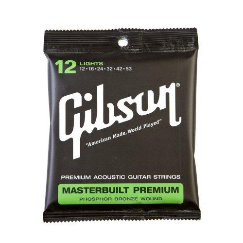 Gibson MB12 Masterbuilt Premium Satz 012-053 - Light (Saitensatz f. Westerngitarre)