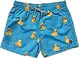 Molokai Mens Swim Trunks Quick Dry Elastic Waist Drawstring (Rubber Ducks, Large)