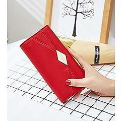 CLUCI Women Wallet Soft Leather Designer Trifold Multi Card Organizer Lady Clutch #1