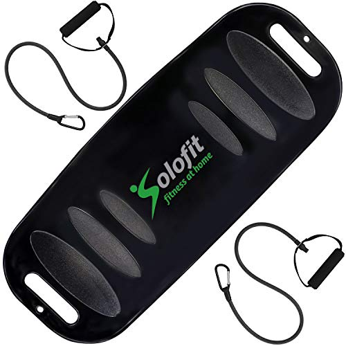 Solofit Balance Fit Board with Resistance Bands (Black)