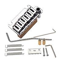 Funien 6弦サドルトレモロブリッジロックシステムSTエレキギター用トレモロアーム取り付けネジギターアクセサリー