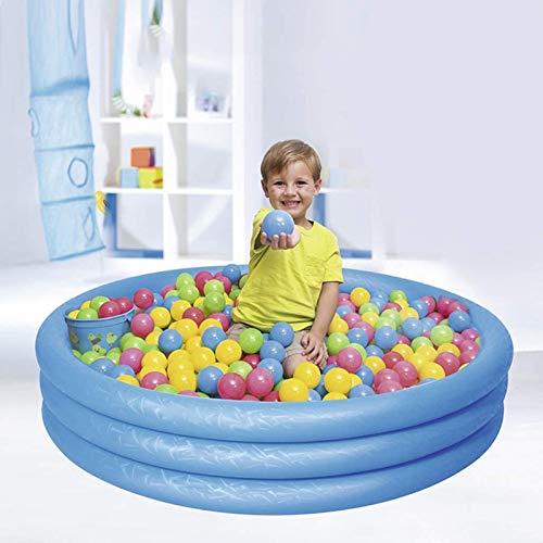 Qazxsw Piscina Inflable/Piscina Inflable para niños con espesas para niños/Piscina Colorida de la Bola del océano,Azul,122 * 25cm