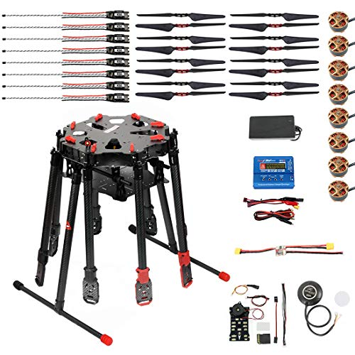 TAROT X8-II TL8X000-PRO 8-Axis FPV Drone Rack with Pixhawk PIX 2.4.8 32 Bit PX4 Autopilot FC 4114/320KV Brushless Motor 1655 Foldable Prop 40A ESC SKYRC B6 Mini 60w Charger (no TX&RX)