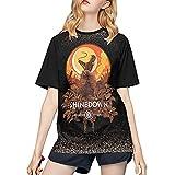S-hinedown B-Reaking B-enjamin Women's Comfort Short Sleeved Tops Music Band Novelty Soft Baseball T Shirts Large Black