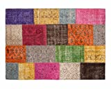 Sukhi Yagmur: Multi-Color Patchwork Alfombra Overdyed Hecho a Mano en Turquía Compra Online en Todos los tamaños (300cm x 400cm / 9' 10.1'' x 13' 1.4'')