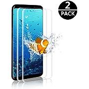 GOMAN Galaxy S8 Panzerglas Schutzfolie [2 Stück], Displayschutzfolie für Samsung Galaxy S8 Panzerfolie Displayschutz Gehärtetem Glass 9H Härtegrad, Anti-Kratzen, Einfaches Anbringen [5.8'']