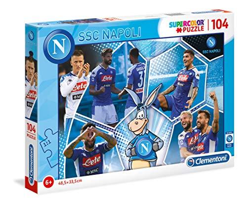Clementoni-SSC Napoli Puzzle, 104 pezzi, Multicolore, 27139