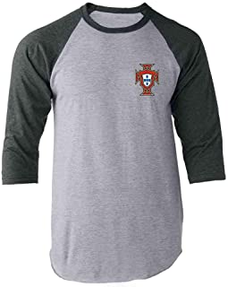 Portugal Soccer Retro National Team Football Raglan Baseball Tee Shirt