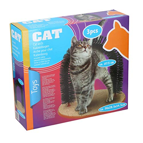 Pet Toys Katzenbogen Enthaarungsbogen Fellpflegebogen Fellpflege Massagebogen Fellpflegebogen Kratzbürste inkl. Katzenminze