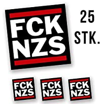 Hellweg Druckerei FCK NZS Aufkleber Sticker 5,2x5,2cm 25 Stück