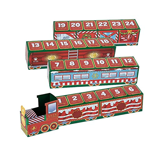 Christmas 24 Days Countdown Train Xmas Train Decoration Gift Christmas Train HOL, Home Decor, Product for Home (Multicolor)
