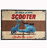 Felpudo (lavable–Scooter–Patinete–Martin Wiscombe–47x 73cm Wash + Dry limpiabarros en Antiguo–lavable