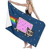 LREFON Rainbow Space Dog Lustiges Badezimmer Mikrofasertuch 32 X 52 Zoll - Strandt & uuml; Cher f & uuml; r M & auml; NNER Frauen Bad, Handt & uuml; Cher