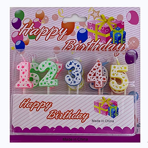 NS Velas de cumpleaños, Velas Digitales de Colores, decoración de cumpleaños número 0-9, para Fiesta de cumpleaños, Aniversario de Boda