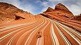 Tapeten Wandbild Coyote Buttes Arizona Landschaft für Innenministerium Fernsehwand Hintergrund Dekoration Seide (W)200x(H)140cm