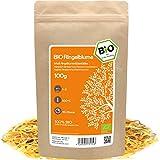 amapodo - Ringelblume Tee Bio 100g - Ringelblumenblüten essbar - Ringelblumen- Ringelblumentee - getrocknete Blüten - Calendula officinalis - kleine Geschenke für Frauen & Männer