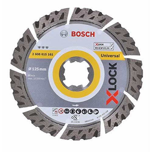 Bosch Professional Diamanttrennscheibe Best (Universal, X-LOCK, Ø125 mm, BohrungsØ: 22,23 mm, Schnittbreite 2,4 mm)