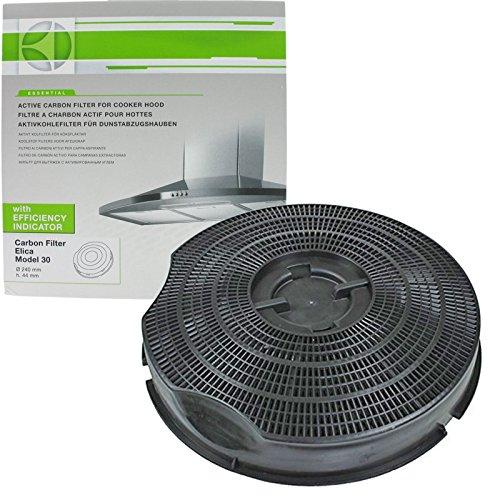 Véritable filtre à charbon pour hotte aspirante Philips Whirlpool AKG AKB AKR G2P Type 30 (235 mm x 46 mm)