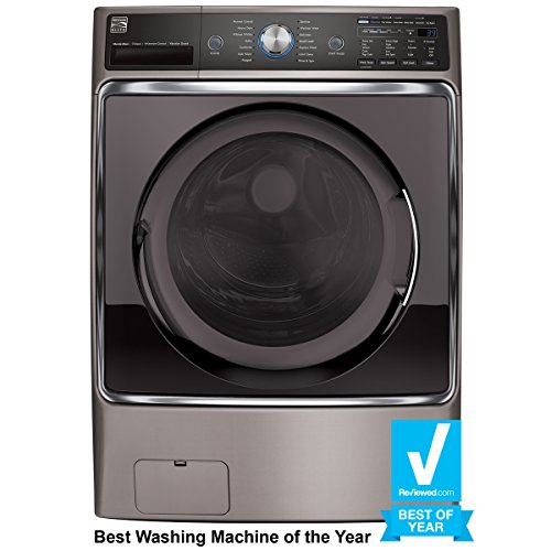 Kenmore 41073 Metallic Silver 5.2 Cubic Feet Front-Load Washer with...