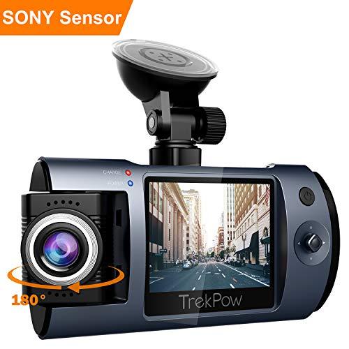 TrekPow T1 Telecamera Auto Dash Cam Full HD 1080P,...