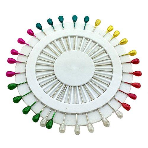 Ababalaya (Pack of 30 Women's Safety Pin Scarf Hijab Pin Brooch Straight Head Pins (Water)