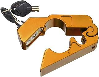 Kesoto Golden Universal CNC Trava de guidão de alumínio para motocicleta com 2 chaves para motocicleta ATV Scooter