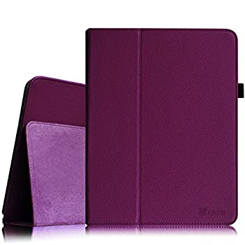 Fintie Folio Case for Original iPad 1st Generation - Slim Fit Vegan Leather Stand Cover with Stylus Holder for iPad 1st Generation 2010 Purple