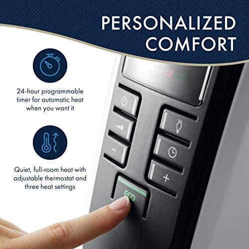 De'Longhi DeLonghi TRD40615E Full Room Radiant Heater, 27.20 x 15.80 x 9.20, Light Gray