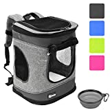 Pawsse Dog Backpack Cat Carrier Backpack Puppy Rucksack up to 15 LBS Padded Fabric Outdoor Short Trip Pet...