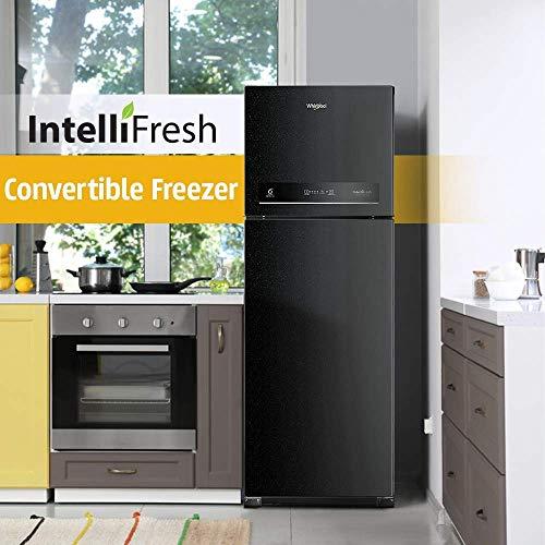 Whirlpool 265 L 3 Star Inverter Frost-Free Double Door Refrigerator (INTELLIFRESH INV CNV 278 3S, Black Sparkle, Convertible)